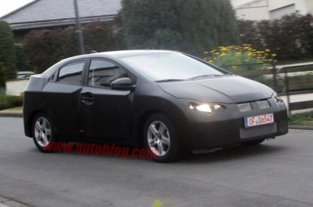Honda Civic 2012 замечен уже в Европе