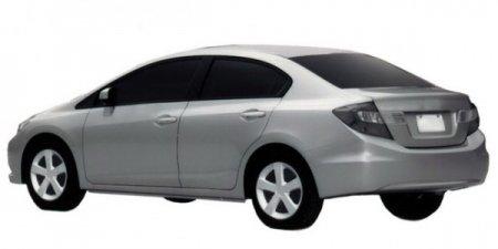 Honda патентует новый седан и купе Civic